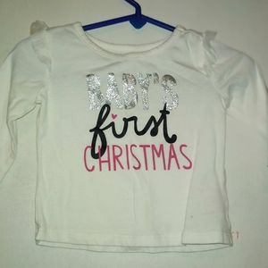 Babies first Christmas shirt.